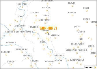 map of Shāhbāzī