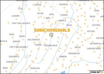 map of Shāh Chirāghwāla