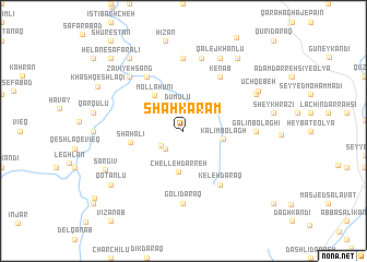 map of Shāhkaram