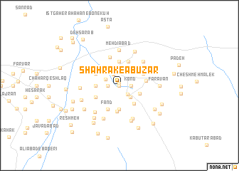 map of Shahrak-e Abūz̄ar