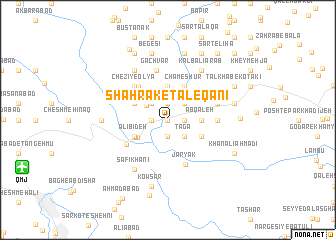 map of Shahrak-e Ţāleqānī