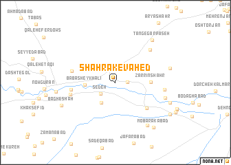 map of Shahrak-e Vāḩed