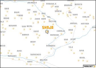 map of Shājā