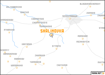 map of Shalimovka
