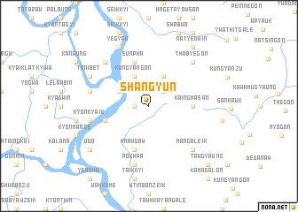 map of Shangyun