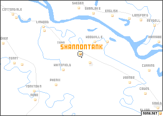 map of Shannon Tank