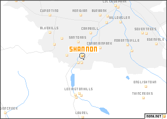 map of Shannon