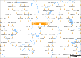 map of Shanywagyi