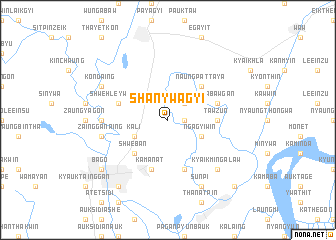 map of Shan-ywagyi