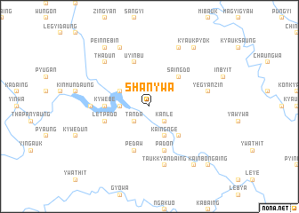 map of Shan-ywa