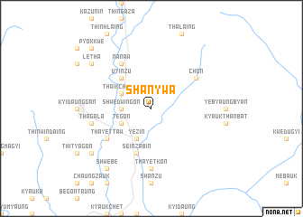 map of Shanywa