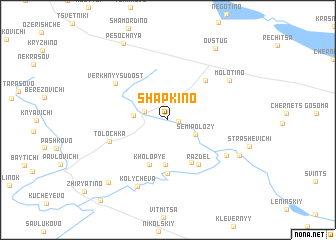 map of Shapkino