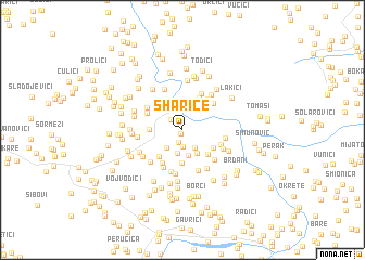 map of Šharice