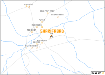 map of Sharīfābād