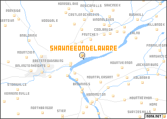 map of Shawnee on Delaware