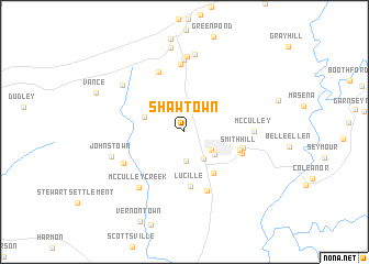 map of Shawtown