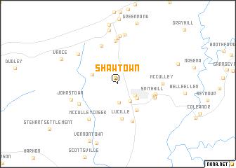 map of Shawtown
