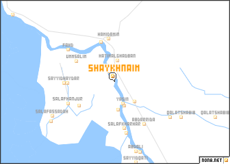 map of Shaykh Na'īm