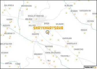 map of Shaykhwaysāwa