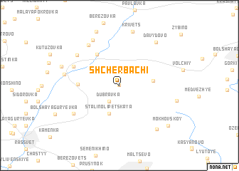 map of Shcherbachi