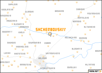 map of Shcherbovskiy