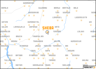 map of Sheba