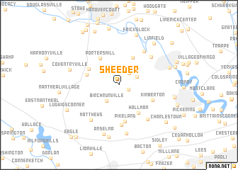 map of Sheeder
