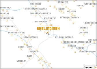 map of Shelīn Dīreh