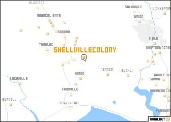 map of Shellville Colony