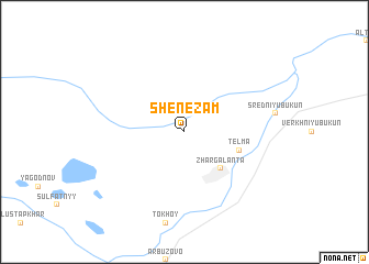 map of Shene-Zam