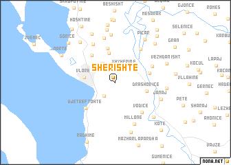 map of Sherishtë
