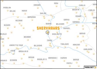 map of Shērkhāwas