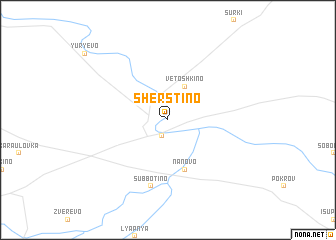 map of Sherstino