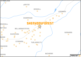 map of Sherwood Forest