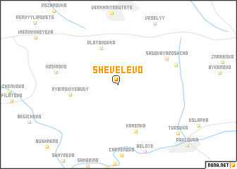 map of Shevelëvo