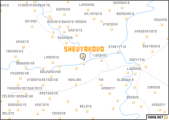 map of Shevyakovo