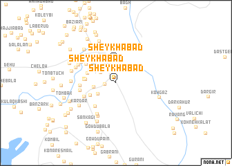 map of Sheykhābād