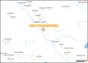 map of Sheykh Moḩammad