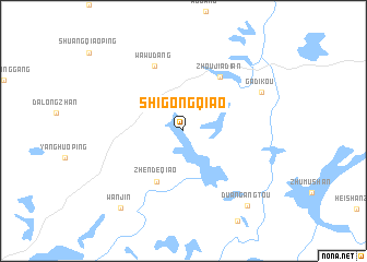 map of Shigongqiao