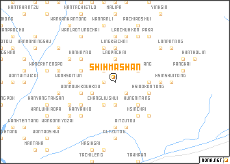 map of Shih-ma-shan