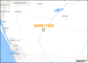 map of Shiney Town
