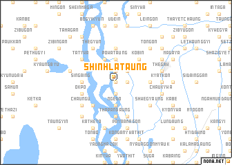 map of Shinhla Taung