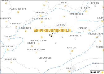 map of Shipikova Makhala