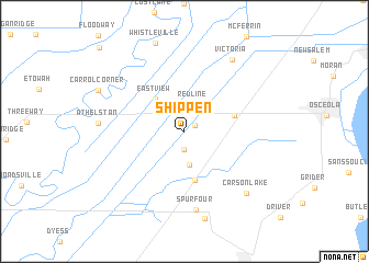 map of Shippen