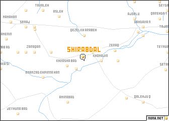 map of Shīr Abdāl