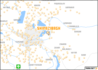 map of Shirazi Bāgh