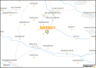 map of Shirokiy