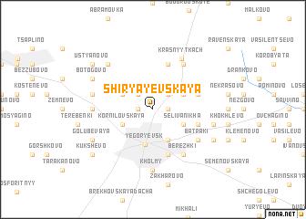 map of Shiryayevskaya