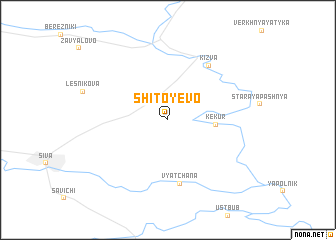 map of Shitoyevo