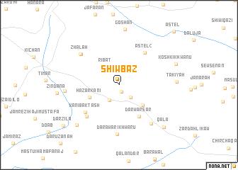map of Shiw Bāz